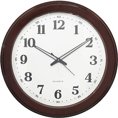 Chronikle Brown Fibre Circular Dial Contemporary Analog Wall Clock