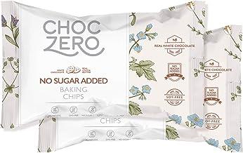 ChocZero's White Chocolate Chips - No Sugar Added, Low Carb, Keto Friendly (2Bags, 14Oz)