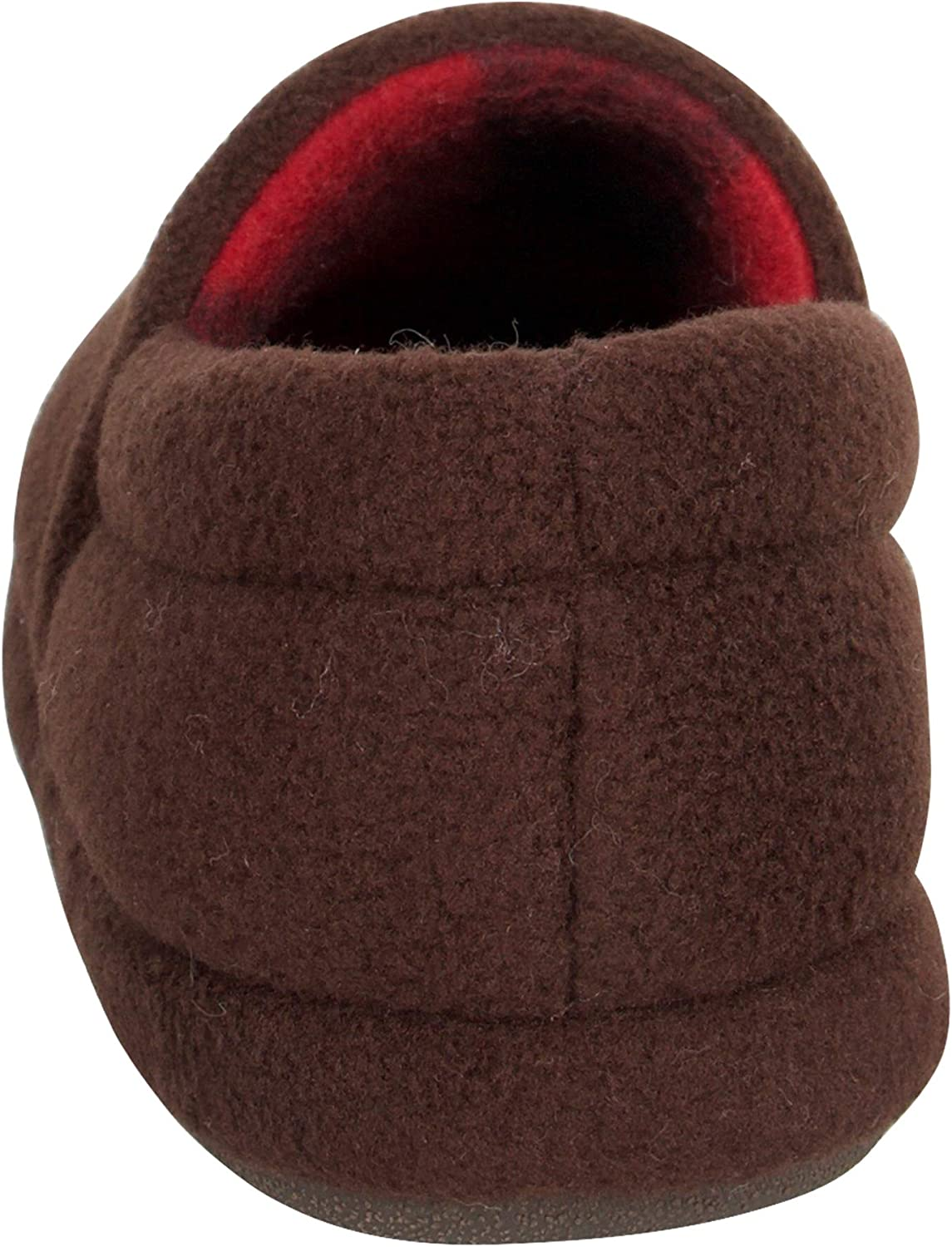 Chaps Unisex-Child Closed Back Fleece Slipper House Shoe with Indoor/Outdoor Nonslip Sole