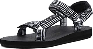 CIOR Women's Sport Sandals Hiking Sandals with Arch Support Yoga Mat Insole Outdoor Light Weight Water Shoes,U119SLX022-Wh...
