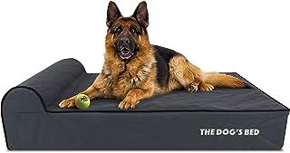 The Dog's Bed Orthopädisches Hundebett, Premium-Memory-Schaum, L-XXL, wasserdicht, zur Schmerzlinderung bei Arthritis, Hüft- und Ellenbogendysplasie, nach Operationen, Lamenheit, Senioren-Unterstützung, beruhigendes Bett, waschbarer Bezug