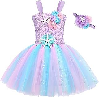 Details about  /NEW Mermaid Girls Purple Sleeveless Tutu Dress 3-4 4-5 5-6 6-7 7-8