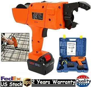 DONNGYZ Automatic Rebar Tying Machine, Orange 12V Automatic Handheld Rebar Tier Tool Building Tying Machine Strapping Tool 30-60mm 13200Mah(US Stock)