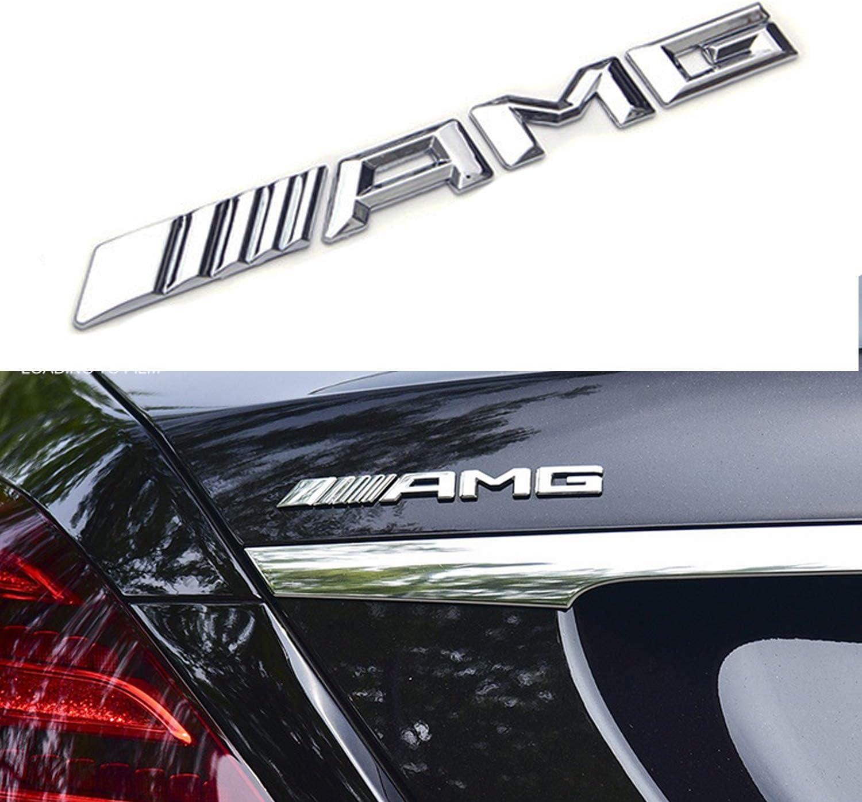 Huayt Alloy Amg Emblem Trunk Logo Seitlich Vom Kotflügel Des Kofferraums Hinten Autoaufkleber Dekoration Passend Für Alle G E S Cls Gle Gls C Klasse Auto