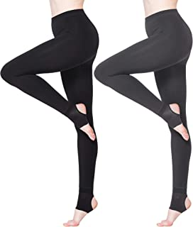 2packs Women's Thermal Leggings Fleece Lined Casual Tights