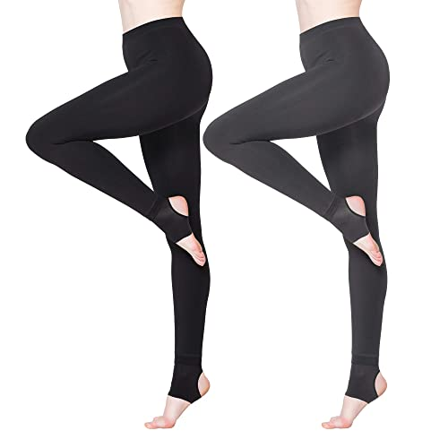 0aa0dd9b9 BONAS 2packs Women s Thermal Leggings Fleece Lined Casual Tights