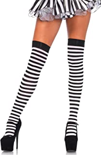 Women's Nylon Striped Stockings