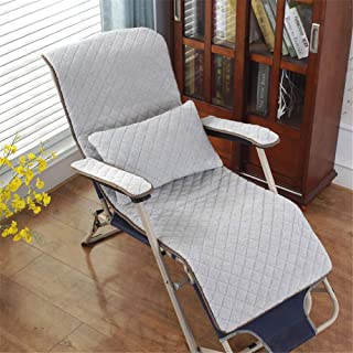 Xinrangxin Removable Suede Recliner Pad with Armrest Pad and Large Lumbar Pillow for Ultra-Wide Zero-Gravity Chair Lounge Recliner Swing Chair, Cushion Cushion, Four Season Series,LightGray,49130cm