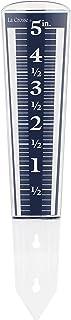 La Crosse 704-1531 Large Magnifying Easy Read 5-Inch Capacity Acrylic Rain Gauge, Black-Blue