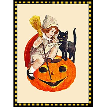 Cauldron Counted Cross Stitch Pattern with Needles Fire Halloween Witch