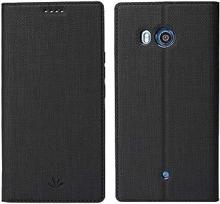 جراب أتش تي سي يو 11 HTC U11 , فليب اسود , مكان للبطاقات, ستاند