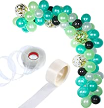 Tatuo 112 Pieces Balloon Garland Kit Balloon Arch Garland for Wedding Birthday Party Decorations (White Green Gold)