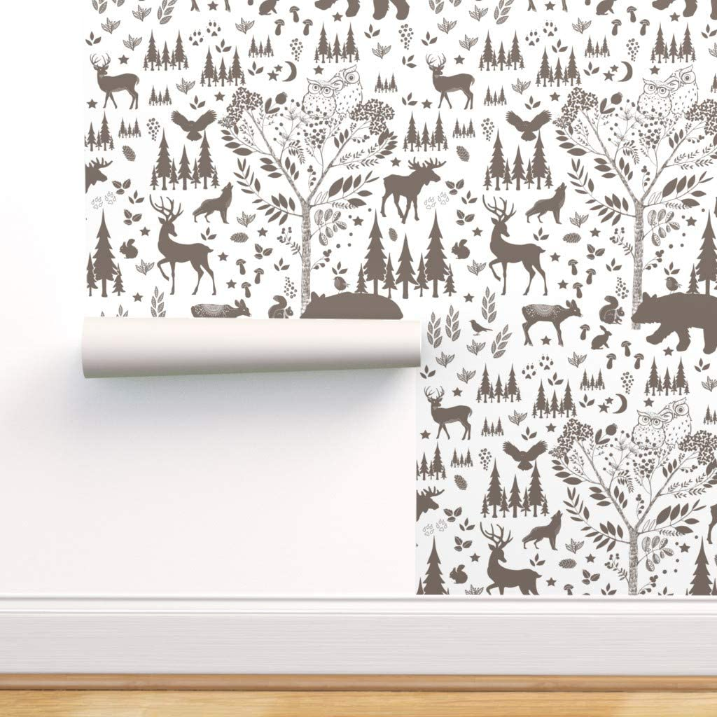 Removable Water-Activated Opening large release sale Wallpaper - Woodland and New life Baby Moose Ow
