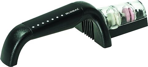 Global G-91/BW Ceramic Water Sharpener Knife Sharpener, Black