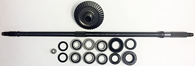 Rear Axle + Rear Differential Ring Gear + Complete Rear Bearing and Seal Kit for 2005-2011 Honda TRX 500 Foreman