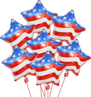 Independence Day Decorations Star Balloons, 6 pcs x 18 inches