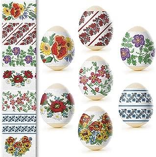 Ukrainian Heat Shrink Wrap Sleeve Decoration Easter Egg Pysanka Set (vyshivanka)