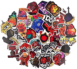 Party Hive Dungeons and Dragons (39 Pieces) D&D Board Game Dice Assorted Decal Stickers Arts Crafts Scrapbook