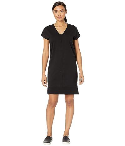 Lilla P Rib Trim Flame Modal Dress (Black) Women
