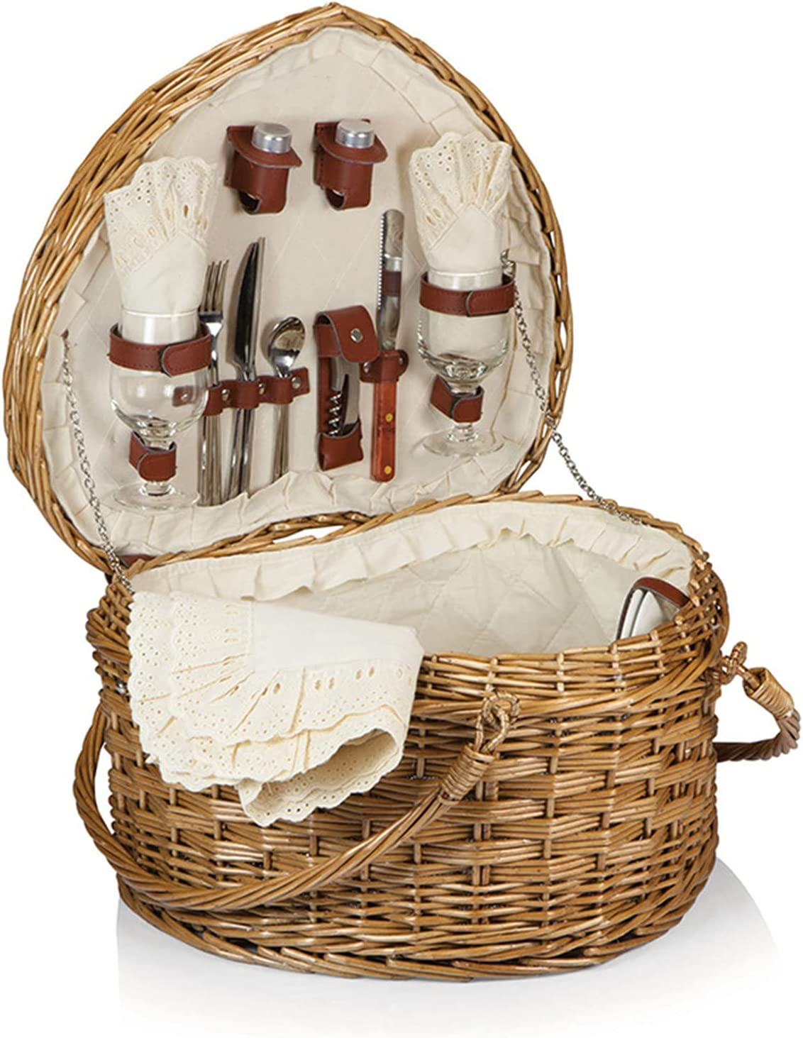 GZP Romantic [Alternative dealer] Wicker Picnic Special price Basket for Persons Outdoor H Dining 2