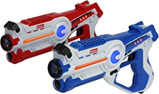 Best Kidzlane Infrared Laser Tag Game - Set of 2 Red / Blue - Infrared Laser Guns Indoor and Outdoor Activity. Infrared 0.9mW Review