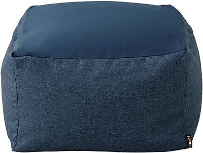 エムール ビーズクッション クッション Lサイズ 特大 座椅子 座布団 怠け者 洗える カバー 軽量 ネイビー