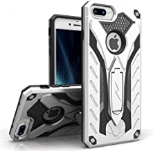 Zizo Static Series Compatible with iPhone 8 Plus Case Military Grade Drop Tested with Kickstand iPhone 7 Plus iPhone 6 Plus Case Silver Black