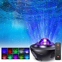 LED Star Light Projector, FOCHEA LED Star Projector Lights Ocean Wave Projector Nachtlampje met Afstandsbediening Timer en...