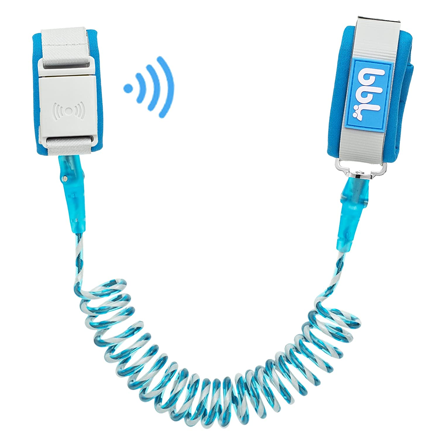 WSZCML Anti Lost Wrist Link with Magnetic Induction Lock,Toddler Wrist Leash for Kids Child Safety Harness Baby Proofing Wristband with Reflective Strip(Blue)