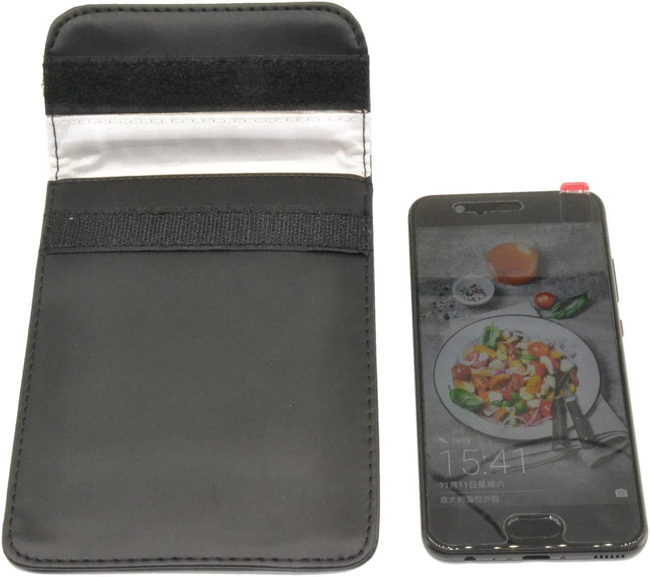 Mengshen RF Signal Blocker Anti-Radiation Shield Case Bag Pouch for 3-5 Inch Cell Phone, PX05 Black