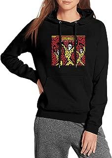 Womens Wool Warm Sweatshirts Rolling-Stones-Voodoo-Tongues- Streetwear Kangaroo Pocket Fleece Pullover Hoodie
