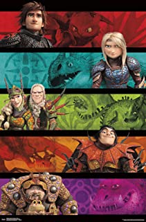 Trends International Train Your Dragon: The Hidden World-Group Wall Poster, 22.375