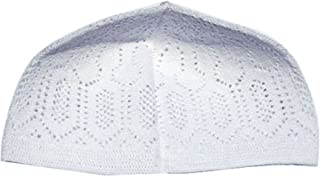 White One-size Turkish Muslim Islamic Kufi Hat Taqiya Takke Peci Skull Cap