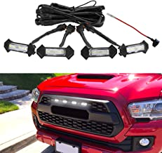 Seven Sparta Led White Lights 4 PCS with Fuse for 2016-2018 Aftermarket Toyota Tacoma TRD PRO Grille (White Shell)