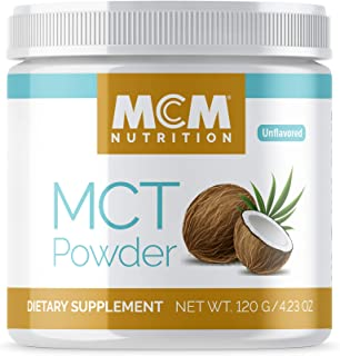 MCT Oil Powder C8 & C10 - Boosts Energy & Improves Mental Clarity - (Unflavored) MCT Oil Keto Powder - Fast Absorbing MCT ...