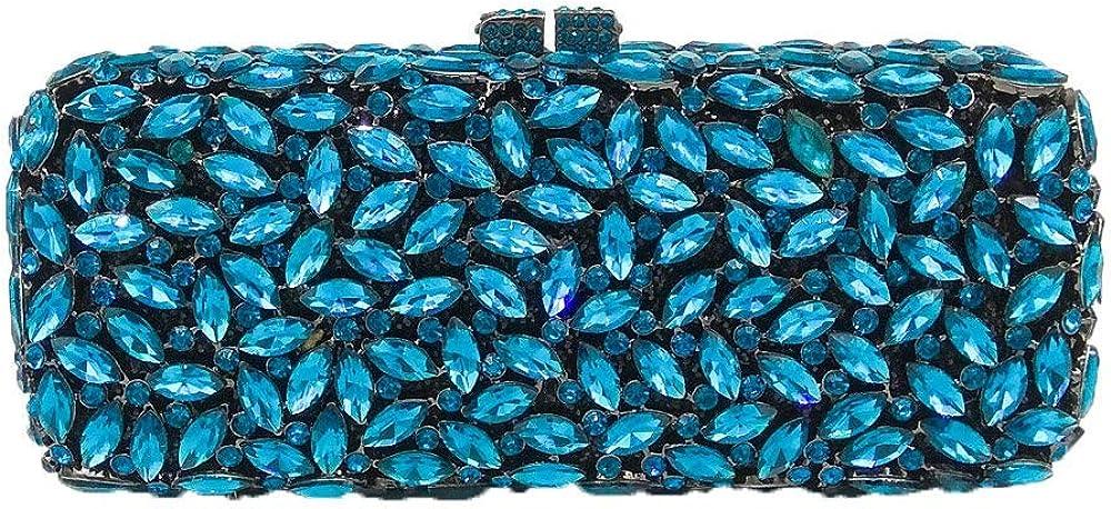 Bling Crystal Clutch Purses for Women Box Minaudiere Handbags Wedding Bag