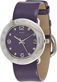 Marc by Marc Jacobs Women's Purple Dial Leather Band Watch - MBM8530