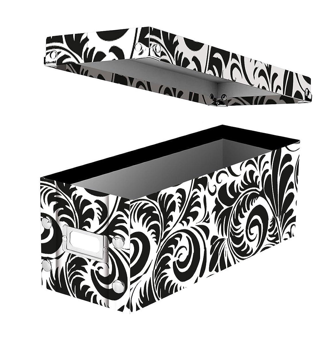 Snap-N-Store CD Storage Box, Black/White Scroll (SNS01913) qa95472314930