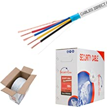 Cables Direct Online, Bulk 22/4 Shielded Stranded Conductor Alarm Control Cable 500ft Fire/Security Burglar Station Wire Security (Shielded (FTP), 22/4, Stranded, 500ft)