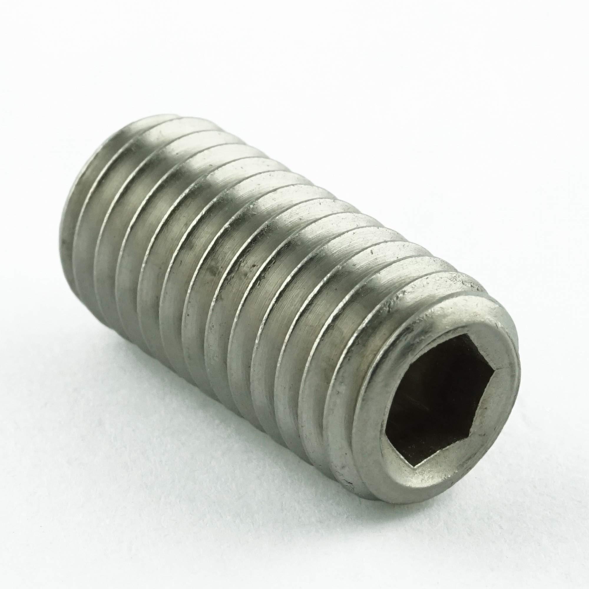 Eisenwaren2000 ISO 4026 M6 x 10 mm Gewindestift mit Innensechskant und Kegelkuppe rostfrei - Madenschrauben DIN 913 Gewindeschrauben 50 St/ück Edelstahl A2 V2A