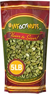 We Got Nuts Pumpkin Seeds Healthy Snacks 5Lbs (80oz) Bag | Raw Pepitas No Preservatives Added, Non-GMO, NO PPO, 100% Natur...
