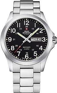 Swiss Military by Chrono - Swiss military Reloj para Hombre Analógico de Cuarzo con Brazalete de Acero Inoxidable SMP36040.25