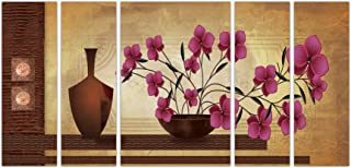 Art Amori Floral Art set of 5 MDF PaintingMulticolour 12x18 Inch - 1 Piece + 6x18 Inch-4 pieces for Wall Paintings || Home...