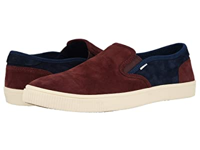 TOMS Baja (Burgundy/Navy Pig Suede) Men