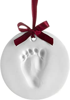 Pearhead Babyprints Baby's First Christmas Handprint or Footprint Holiday Ornament Kit, Easy No-Bake Mold Makes a Perfect Christmas Craft for Baby's First Holiday