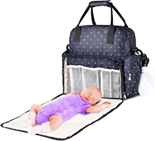 Large Diaper Bag SAWNZC Multifunction Travel Backpack Baby Nappy Tote Maternity Shoulder Bag