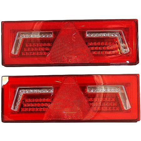 2x Neon Led Rückfahrscheinwerfer Kombi Rücklicht 12 24v Dynamische Richtungsanzeiger E Mark Lkw Anhänger Chassis Bus Wohnmobil Auto