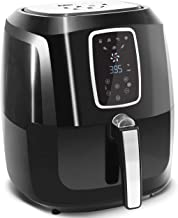 Maxi-Matic EAF-1616 Electric Digital Hot Air Fryer Oil-Less Healthy Cooker with Extra Large Capacity-4 Lbs of Food, 7 Menu Functions, PFOA/PTFE Free, 1800-Watts with 26 Recipes, 5.5 Quart, Black