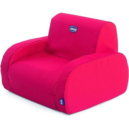 Chicco Twist Fauteuil pour Enfants Convertible en Chaise Longue et en Divan, avec 3 Configurations, se Transforme en 1 Mouvement - pour les enfants de 12 mois et Plus - Rouge