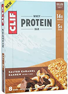 Clifbar Whey Protein Bars - 8-Pack Salted Caramel Cashew, One Size